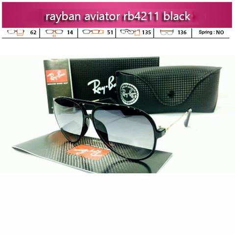 Toko Kacamata Rayban Aviator RB4211 Black Blue