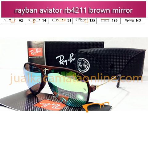 Kacamata Rayban Aviator RB4211 Brown Mirror