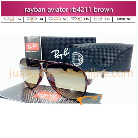 Kacamata Rayban Aviator RB4211 Brown