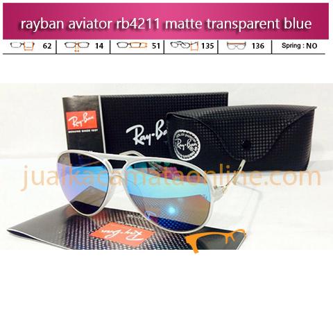 Kacamata Rayban Aviator RB4211 Trans Blue