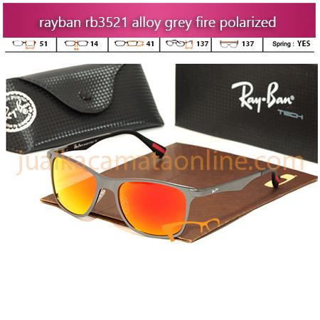 Jual Kacamata Rayban RB3521 Grey Fire