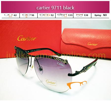 Kacamata Wanita Cartier 9711 Black