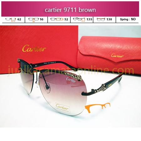 Kacamata Wanita Cartier 9711 Brown