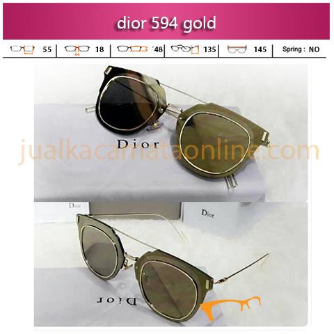 Trend Kacamata Dior 594 Gold