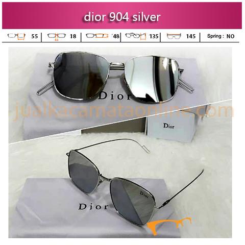 Model Kacamata Dior Pilot 904 Silver