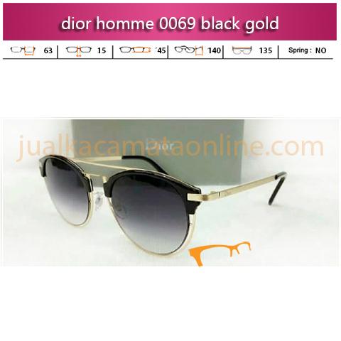 Toko Kacamata Dior Homme 0069 Black Gold
