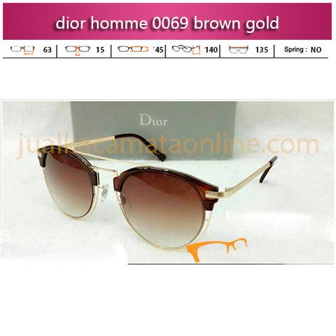 Kacamata Dior Homme 0069 Brown Gold