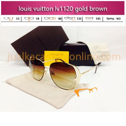 Kacamata Louis Vuitton LV1120 Gold Brown