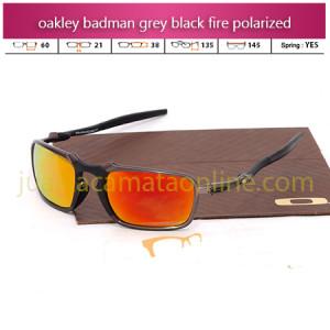 Toko Kacamata Oakley Badman Grey Fire