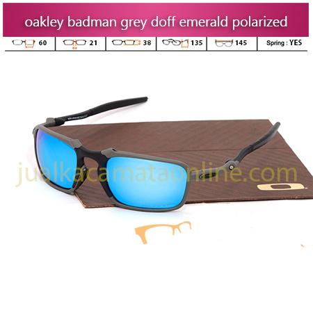 Harga Kacamata Oakley Badman Grey Emerald