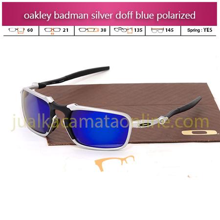 Jual Kacamata Oakley Badman silver blue