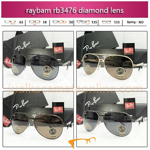 Jual Kacamata Rayban Aviator RB3476 Diamond Lens
