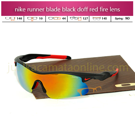 Jual Kacamata Nike Runner Black Doff Red Fire Lens