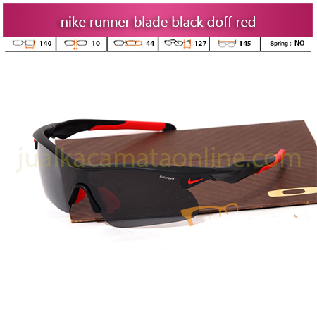 Jual Kacamata Nike Runner Black Doff Red