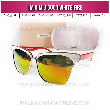 Jual Kacamata Miu Miu 6001 White Fire