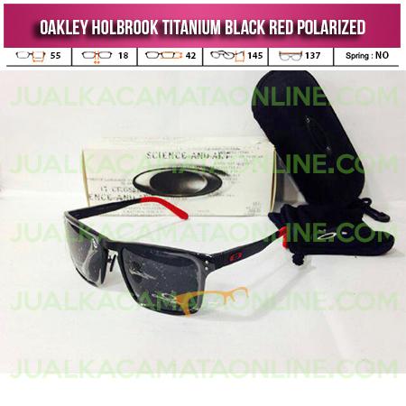 Jual Kacamata Oakley Holbrook Titanium Black Red