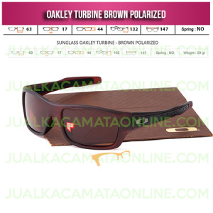Kacamata Oakley Turbine Brown