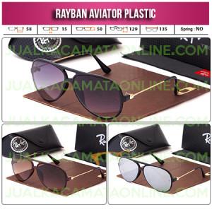 Jual Kacamata Rayban Aviator Plastic Terbaru