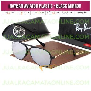 Harga Kacamata Rayban Aviator Plastic Black Mirror