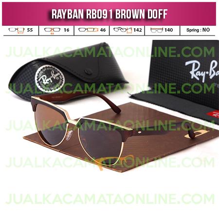 Model Kacamata Rayban  Terbaru RB091 Brown