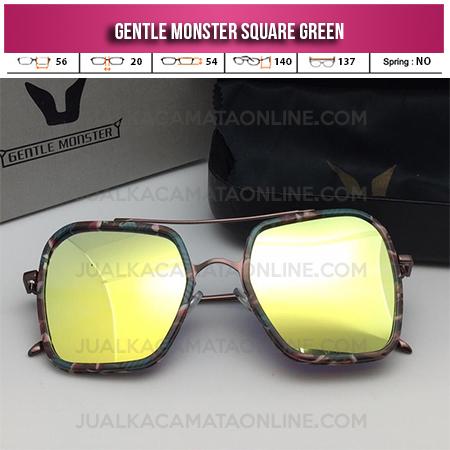 Kacamata Murah Gentle Monster Square Green