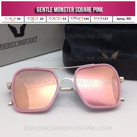 Pink Kacamata Gentle Monster Square Pink