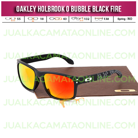 Model Kacamata Oakley Holbrook Terbaru Bubble Black Fire