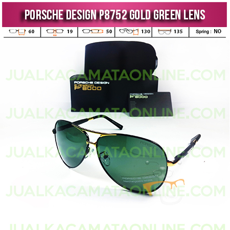 Model Kacamata Porsche Design Terbaru P8752 Gold Green