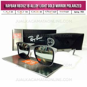 Model Kacamata Rayban Terbaru RB3521B Alloy Gold Mirror