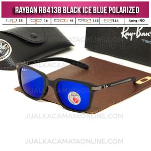 Jual Kacamata Rayban RB4138 Black Ice Blue