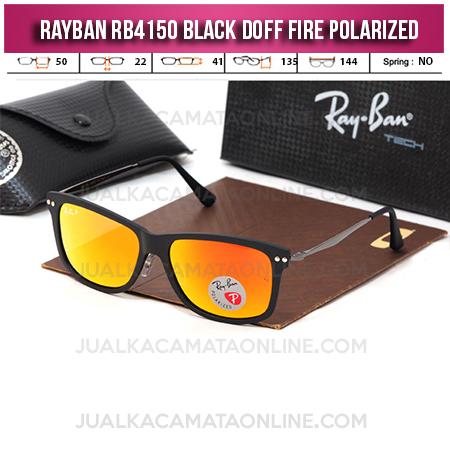 Toko Kacamata Rayban RB4150 Black Doff Fire