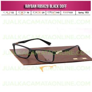 Jual Paket Kacamata Rayban RB5628 Black Doff
