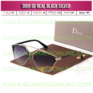 Kacamata Wanita Dior So Real Black Silver