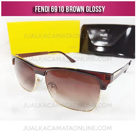 Harga Kacamata Wanita Terbaru Fendi 6910 Brown Glossy
