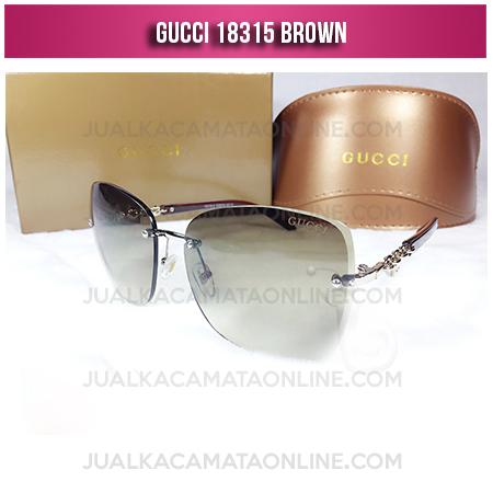 Model Kacamata Wanita Terbaru Gucci 18315 Brown