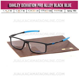 Harga Frame Kacamata Oakley Deviation Pro Alloy Black Blue