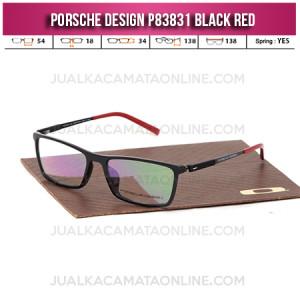 Jual Frame Kacamata Baca Porsche Design P83831 Black Red