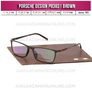 Model Frame Kacamata Baca Porsche Design P83831 Brown