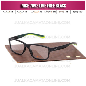 Jual Frame Kacamata Baca Nike 7092 Live Free Black