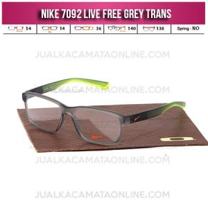Jual Frame Kacamata Nike 7092 Live Free Grey Trans