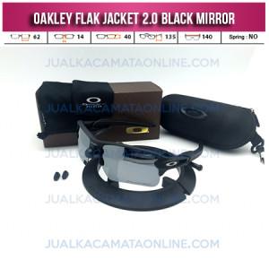 Model Kacamata Oakley Flak Jacket 2.0 Black Mirror