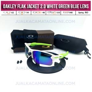 Kacamata Oakley Flak Jacket 2.0 White Green