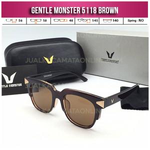 Model Kacamata Gentle Monster 5118 Brown