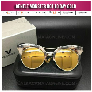 Model Kacamata Gentle Monster Not To Day Gold