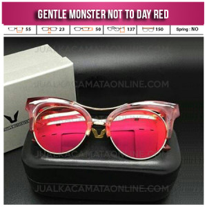 Harga Kacamata Gentle Monster Not To Day Red
