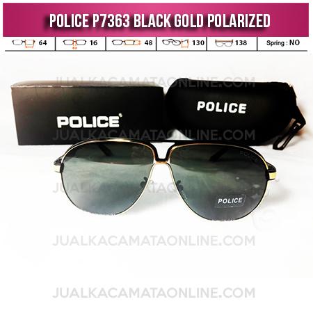 Jual Kacamata Police P7363 Black Gold