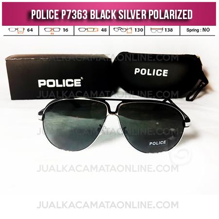 Toko Kacamata Police P7363 Black Silver