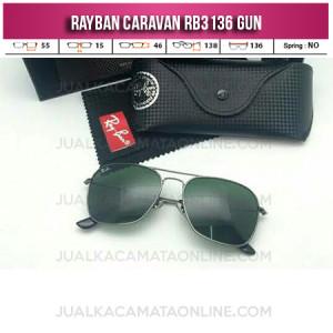 Kacamata Rayban Caravan RB3136 Gun