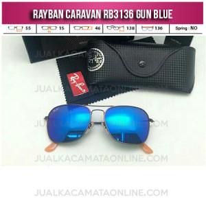 Harga Kacamata Rayban Caravan RB3136 Gun Blue