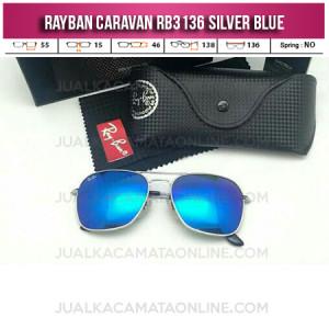 Jual Kacamata Rayban Caravan RB3136 Silver Blue